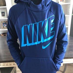 Nike athletic blue hoodie